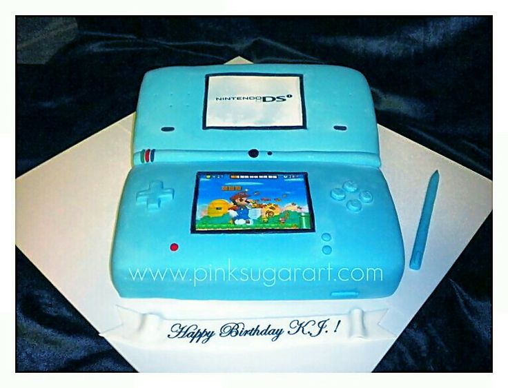 Super Mario, Family and Friends!. #Birthday #Cake #Sweats #Desserts #Food #Nitendo #DS #Portable.