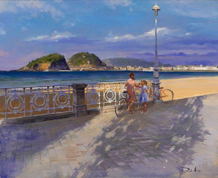 Ricardo Sanz – Paseo de Ondarreta Óleo sobre lienzo. 100×81 cms.