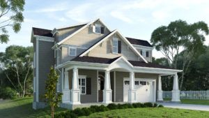 Cincinnat custom teardown home builder Legendary Custom Homes prides themselves on their exterior designs.