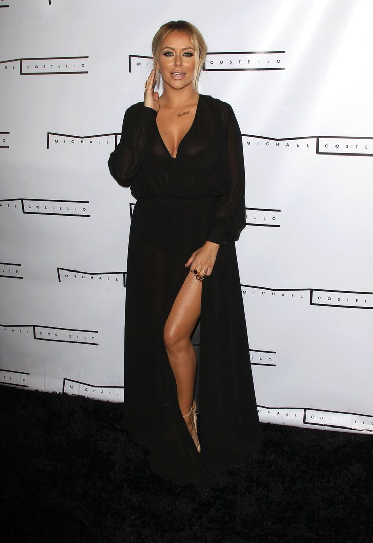 Aubrey O'Day and Shannon Bex attends the Michael Costello capsule collection launch party