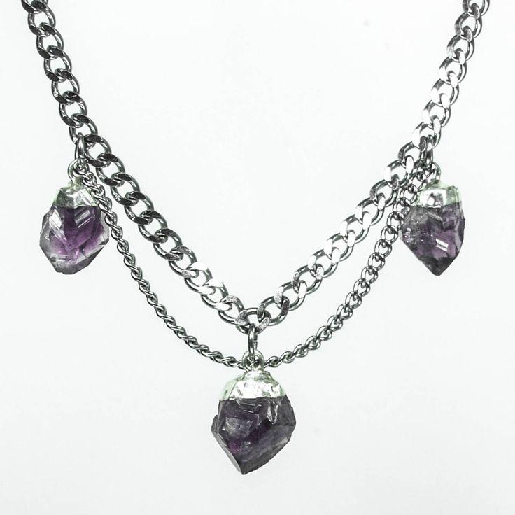Arabella Amethyst Choker Necklace