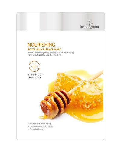 Royal Jelly Essence Mask Nourishing Revitalizing Plumping Dehydrated Skin 10EA #BeauuGreen