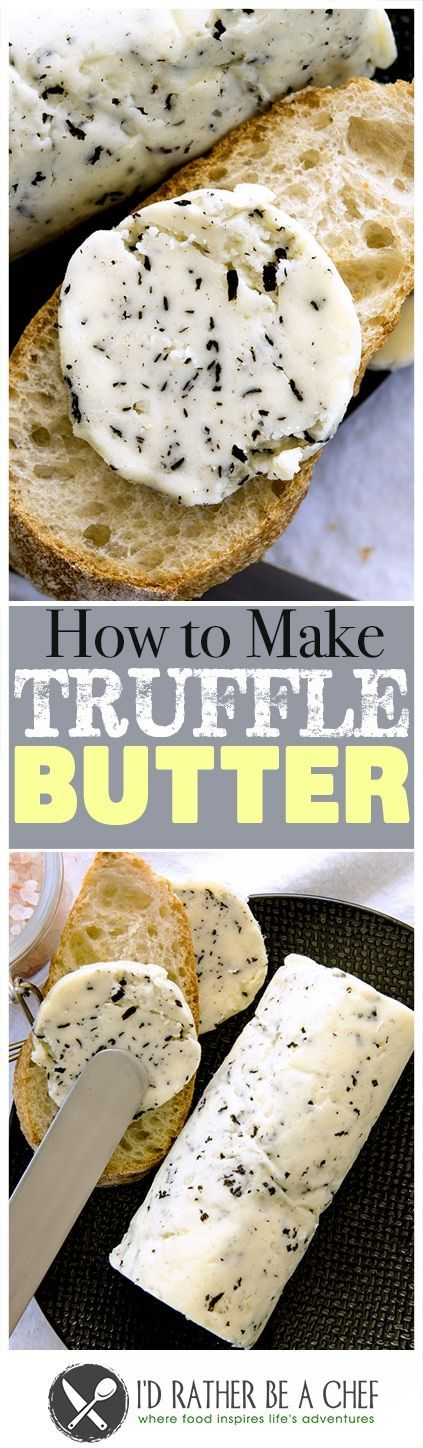 Learn how to make truffle butter easily in your own kitchen. It is so delightfully creamy and wonderful you'll wonder where it has been your whole life! via @idratherbeachef