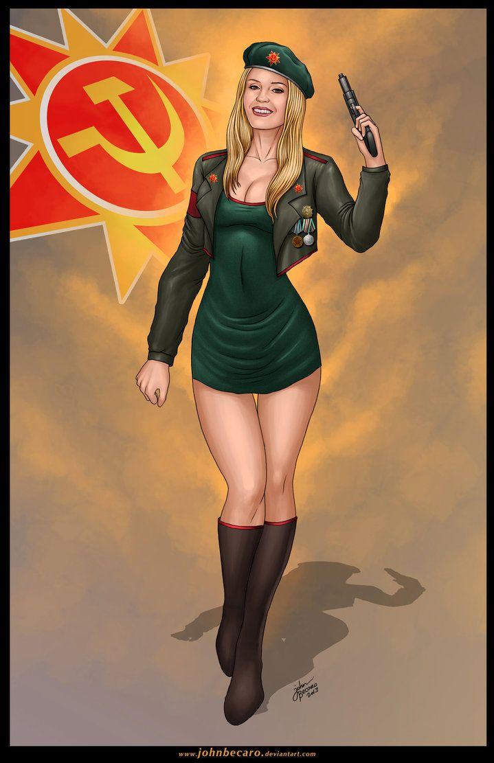 Command And Conquer Wallpaper Girl Zhana Red Alert 3 John Becaro Curves Fantasy Women