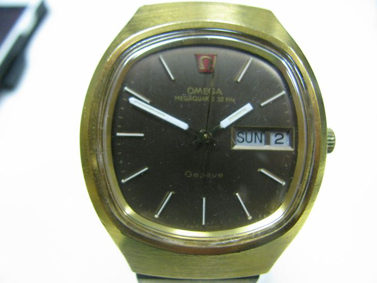 Vintage Late 70's or 80's Omega Quartz 32 KHz Geneve Gold Filled 8 Jewels Watch by alinagifts on Etsy