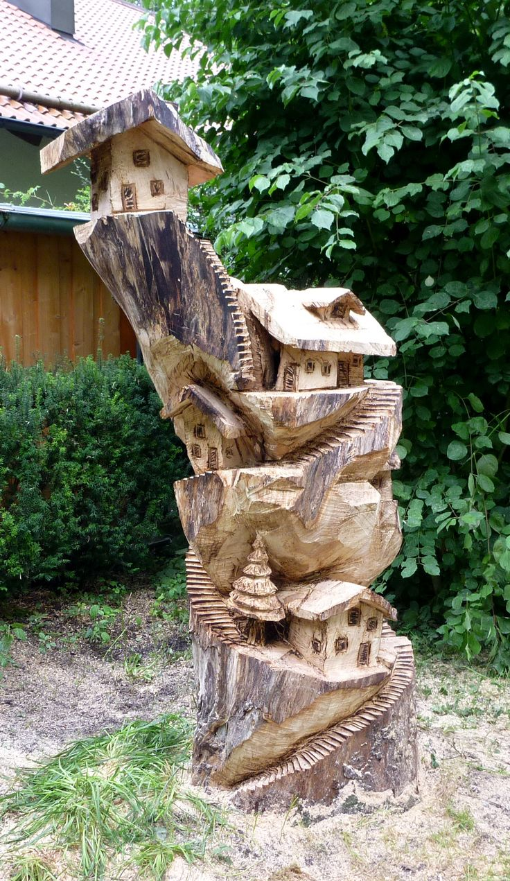 454 best Carving Fairy house images on Pinterest | Fairy ...