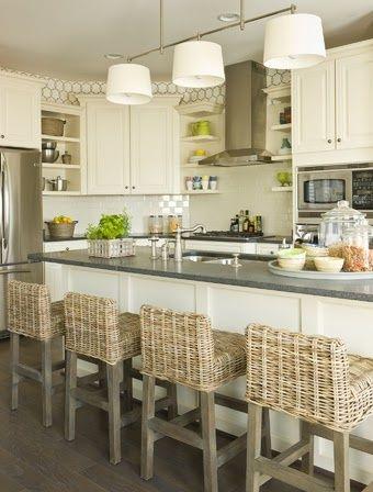 Beautiful kitchen and barstools....