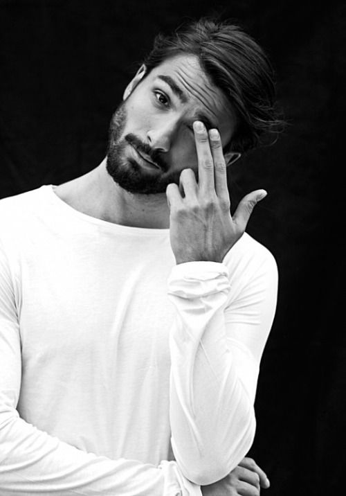 #beard #white #longsleeve