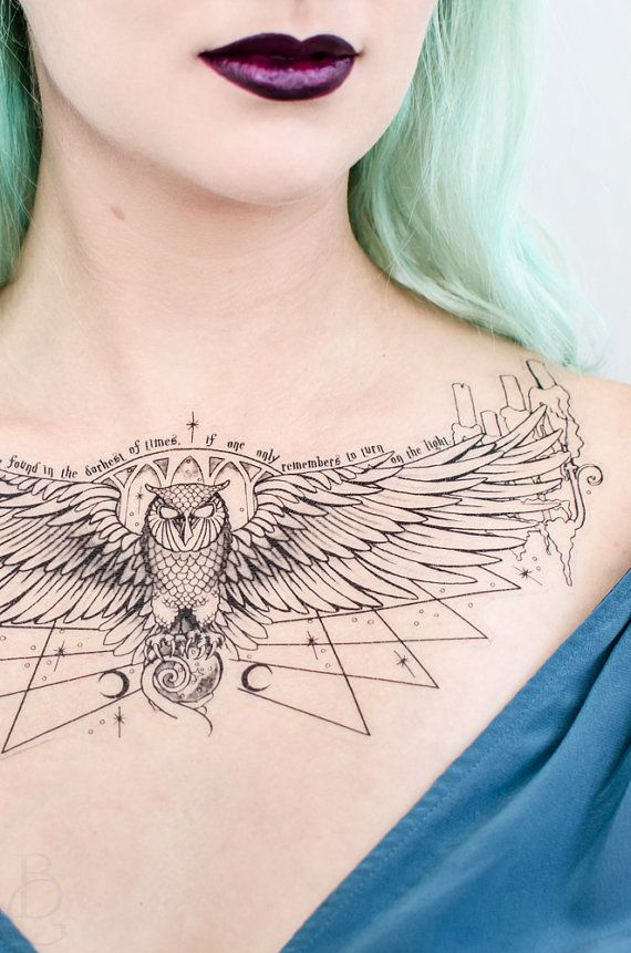 Owl Podium Dumbledore-Inspired Temporary Tattoo by SeventhSkin