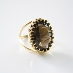 Gorgeous Crystal Ring in chocolate from ziporacollection.com
