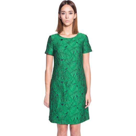 Sukienki. Kategoria: sukienki, długość rękawa: krótki rękaw, fason: trapezowe, długość sukienki: midi, okazja: na urodziny, styl: elegancki. Sukienka
