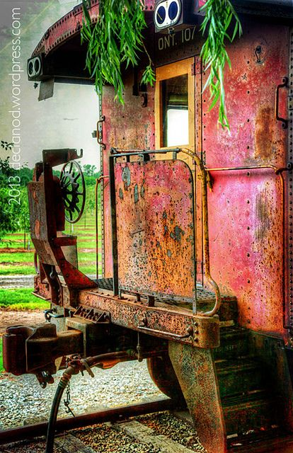 Abandoned railcar - Stoney Creek, Ontario, Canada by Declan O'Doherty