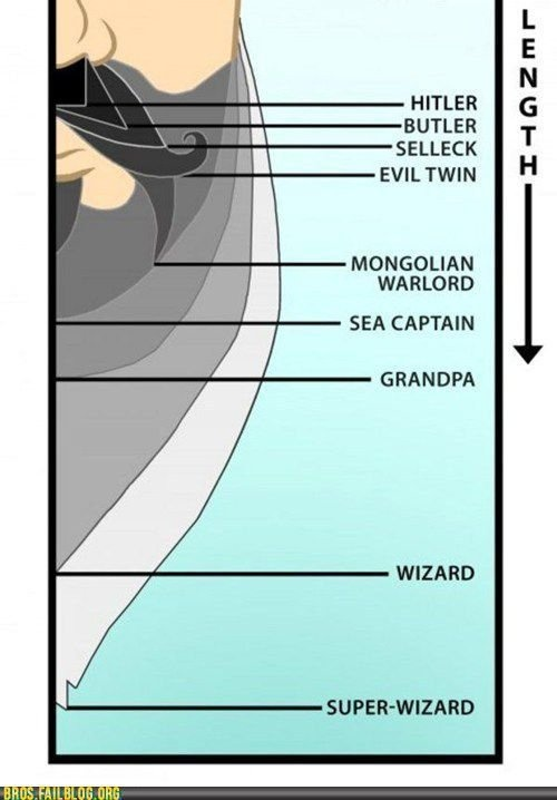 A helpful chart to help you determine your beard status