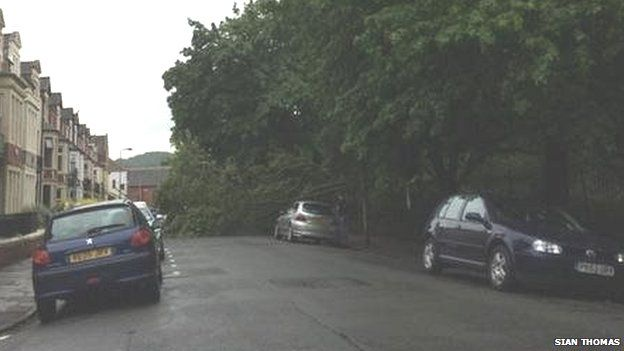 Flash flood warning as storms forecast in Wales
