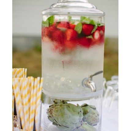 Post wedding brunch ideas - Fruit Infused H2O