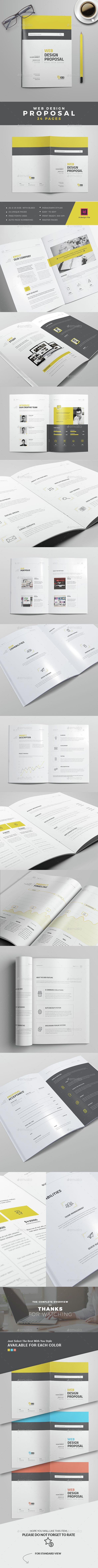 Web Design Proposal Template InDesign INDD. Download here: http://graphicriver.net/item/web-design-proposal/14929735?ref=ksioks