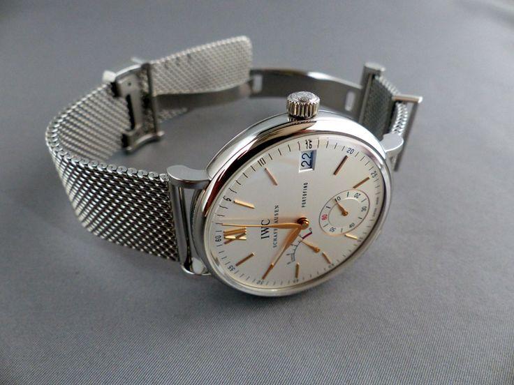 Magnifique montre IWC avec bracelet en maille milanaise #mode #montre #IWC #bracelet #maille #milanaise #watches #fashion #dream #mensfashion #fashionformen