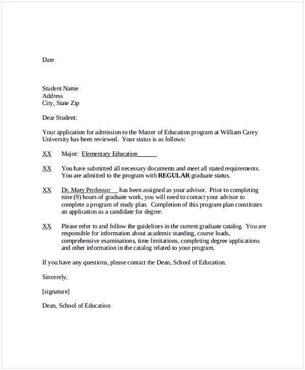 Fake College Acceptance Letter Template from i.pinimg.com