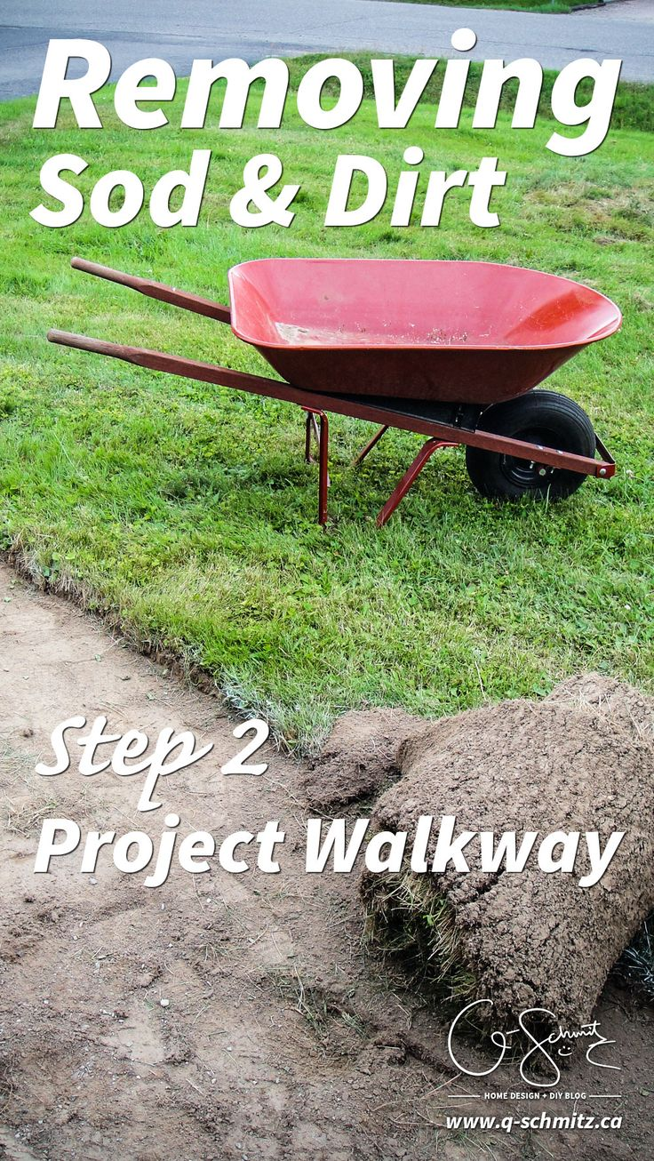 Project Walkway: Removing Sod