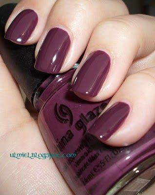 China glaze VII is a purplish creme