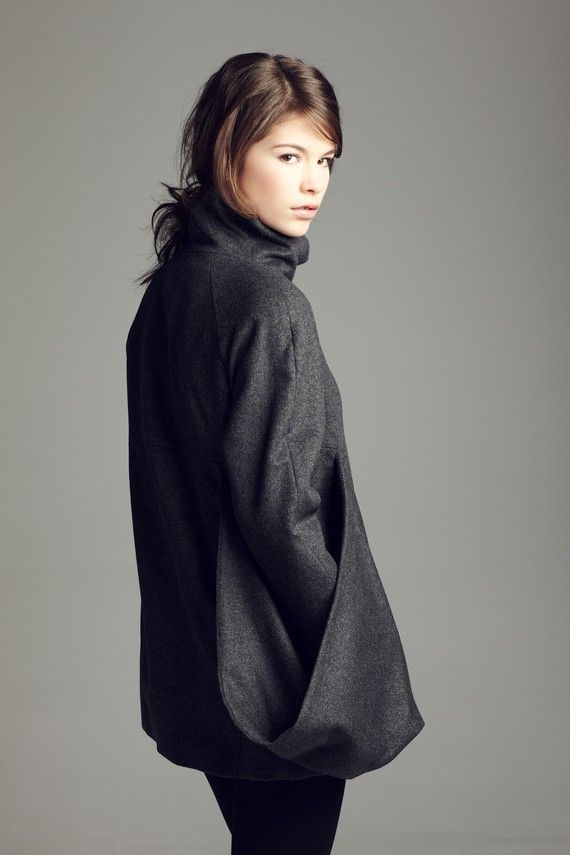 Sale Fashion unique One pocket winter coat by vickyduboisdesign, $319.00