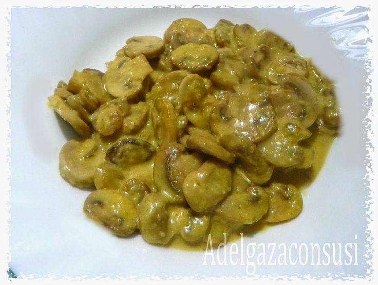 Adelgaza Con Susi: Champiñones con salsa de curry Ligera (105kcal)