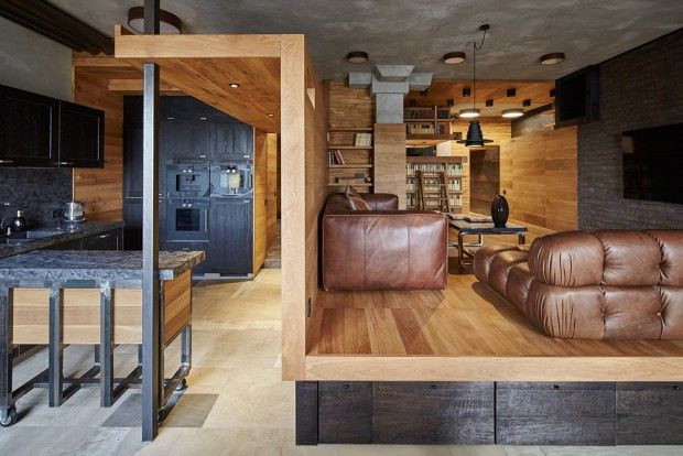 Appartement 57 Drawers à Moscou par Alexey Rozenberg - Journal du Design