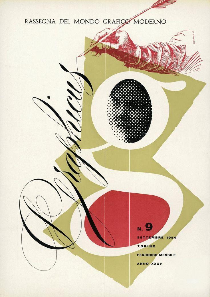 Aldo Novarese / Cover for the magazine «Graphicus», 1954