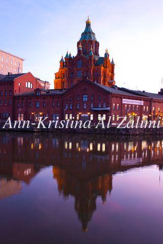 Ann-Kristina Al-Zalimi, uspenskin katedraali, ilta, talvi-ilta, helsinki, finland