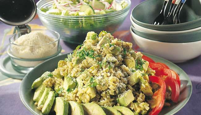 Avokado-pestorisotto - K-ruoka