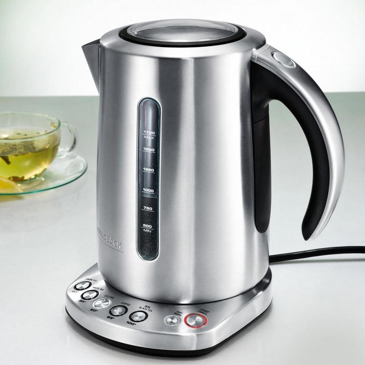 Design-Wasserkocher mit Temperaturwahl Der schönere Wasserkocher ist auch der bessere. Qualität vom Profi-Ausstatter Gastroback
