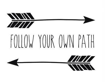 """Follow Your Own Path"" canvas for my dream room"