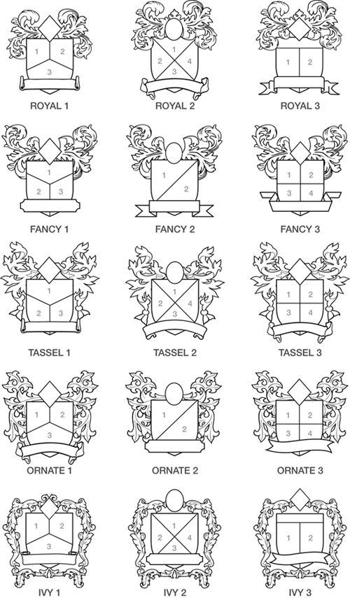 family crest layouts