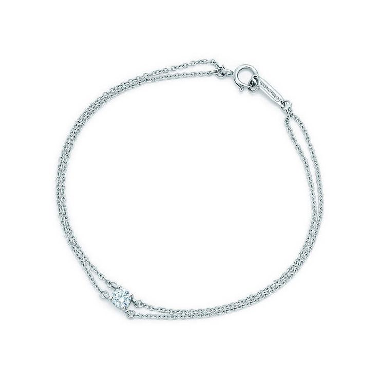 Tiffany solitaire diamond bracelet in platinum. | Tiffany & Co.