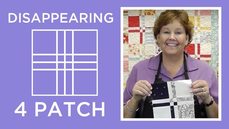 "http://missouriquiltco.com -- Jenny Doan shares the awesome, but easy Disappearing 4 Patch technique using charm squares (5"" squares of pre-cut fabric). To g..."