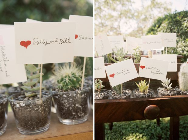 party favors - cute idea to keep the world green! and of course could do different plants or flowers :)