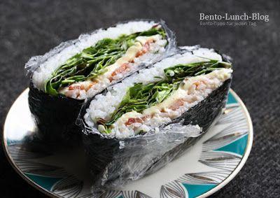 Bento Lunch Blog: Rezept: Onigirazu - Japanisches Reissandwich