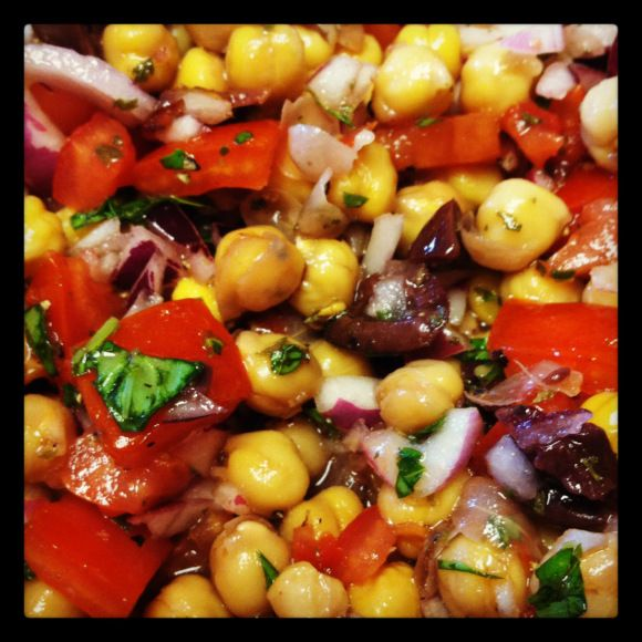 Chickpea Salad | Chickpea Salad, Chickpeas and Salads