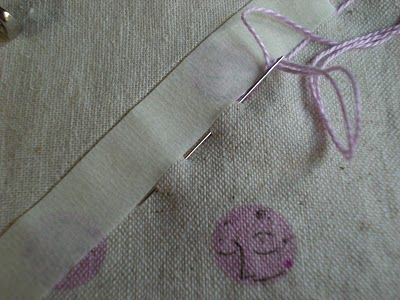 How to hide the knot when you're hand-quilting. Genius!     Hand Quilting....Pick Stitching....A Tutorial....
