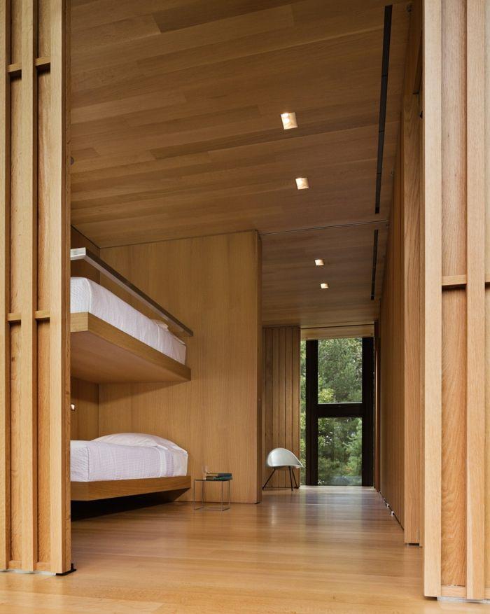 69 einrichtungsbeispiele bei denen holzpaneele und. Black Bedroom Furniture Sets. Home Design Ideas