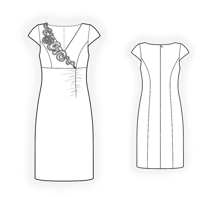 Vintage Vogue Designer Scott Barrie Sewing Pattern Misses Sexy Dress Belt Easy