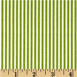 For recovering the headboard - can I mix these tiny stripes with the big stripes in the duvet? ...Premier Prints Desoto Stripe Chartreuse/White