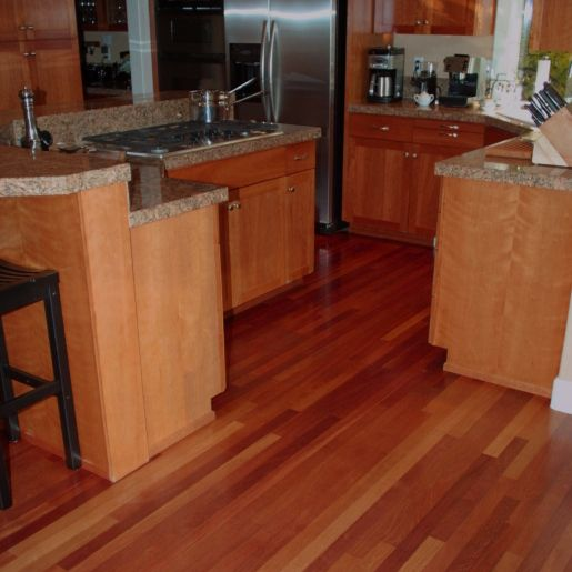 Brazilian Cherry hardwood floors would look crazy good in my home!