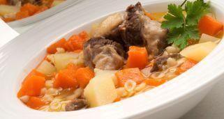 Receta de Sopa de rabo, patatas y calabaza