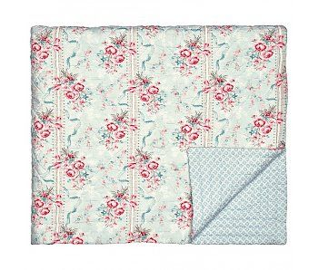 """GreenGate Quilt """"Bed cover Betty mint"""" 140 x 220"""