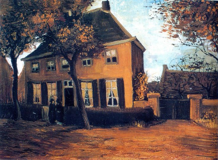 "Vincent Van Gogh (1853-1890) "" The Vicarage at Nuenen ""."