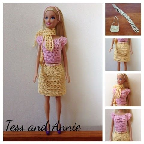39 best blog updates images on pinterest free crochet crochet tess and annie free crochet pattern spring barbie outfit dt1010fo