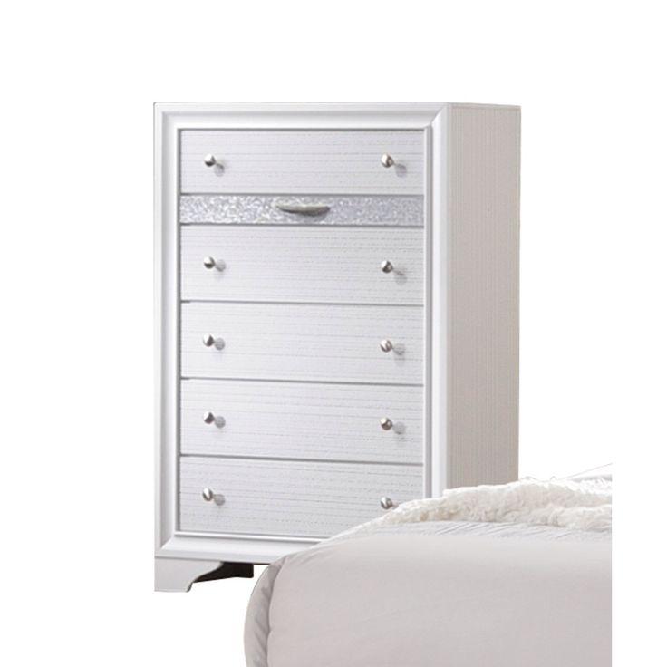 acme furniture naima white 6drawer chest chest white 34 x 17