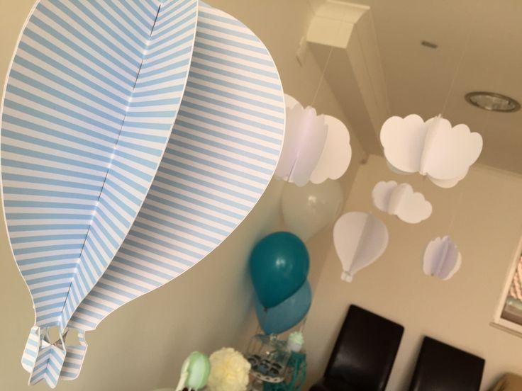 Hot air baloon babyboy party