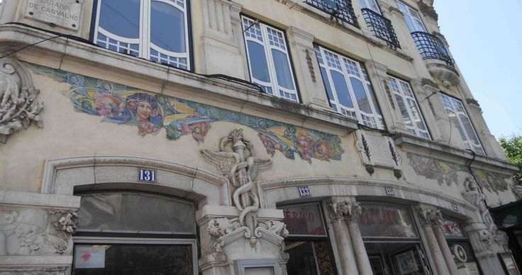 "Lisbon, A Concorrente main façade | António Cota Fevereiro. ""The Art Nouveau tiles as frames to architecture in Lisbon,"" in AzLab#14 Azulejos and Frames. Proceedings. 2 (2016), p. 62-74. URL: http://artison.letras.ulisboa.pt/index.php/ao/article/view/44"